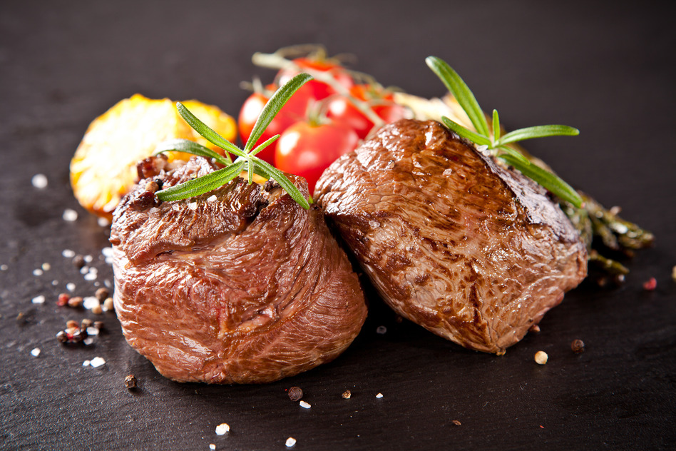 photodune 7078994 fresh beef steak on black stone s